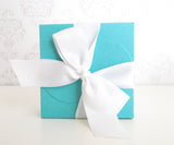 Square Favor Boxes with Ribbon