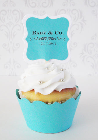 Personalized Cupcake Toppers (24 pc)
