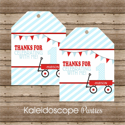 Little Red Wagon XL Favor Tags