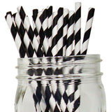 Paper Straws {Black Stripe}