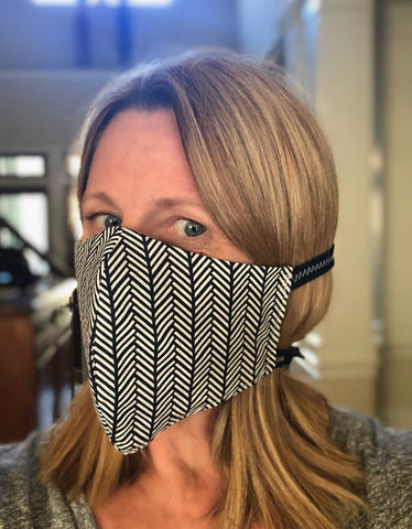 Cotton Face Mask with Filter Pocket - Road Trip