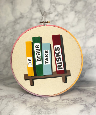 be brave bookshelf - hoop art