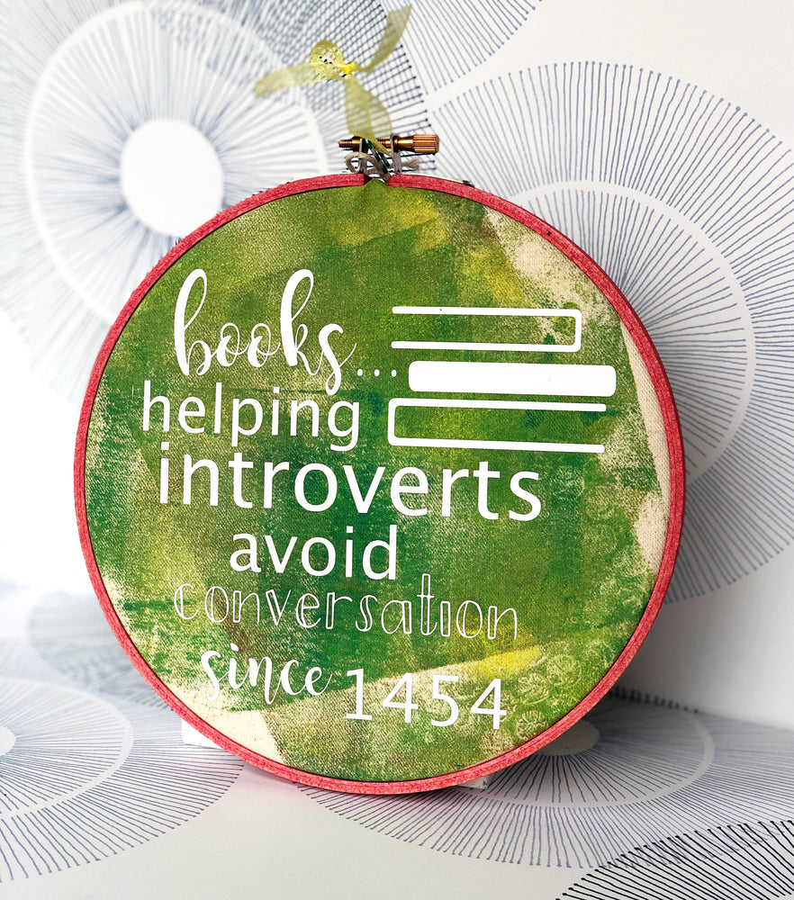 books..helping introverts avoid conversation - hoop art