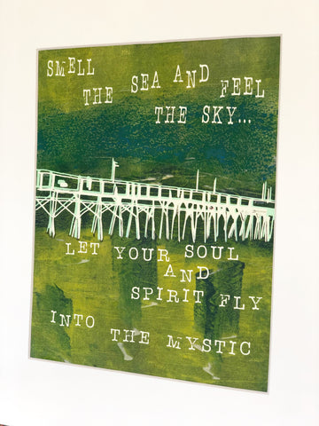 let your soul fly with an inked original monoprint