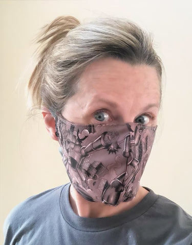 Cotton Face Mask with Filter Pocket - Robots