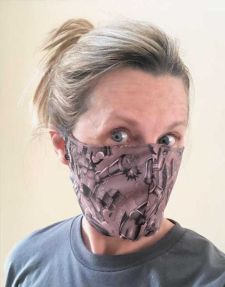 Cotton Face Mask with Filter Pocket - Bots and Robots