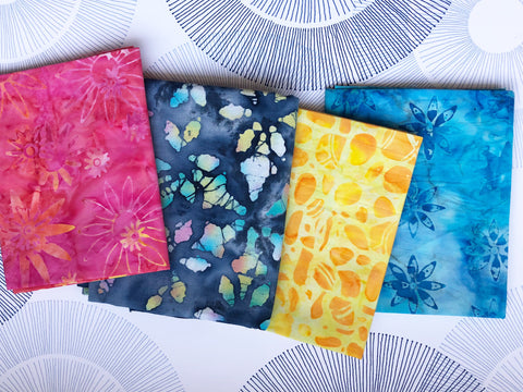 Cotton Face Mask with Filter Pocket - BATIK 1