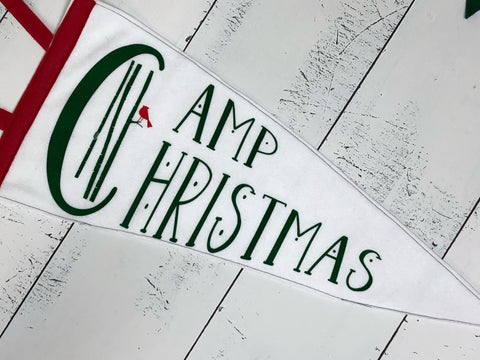 Camp Christmas - Vintage Style Pennants