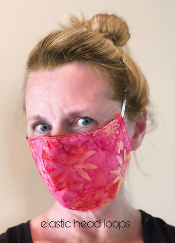Cotton Face Mask with Filter Pocket - BLUE
