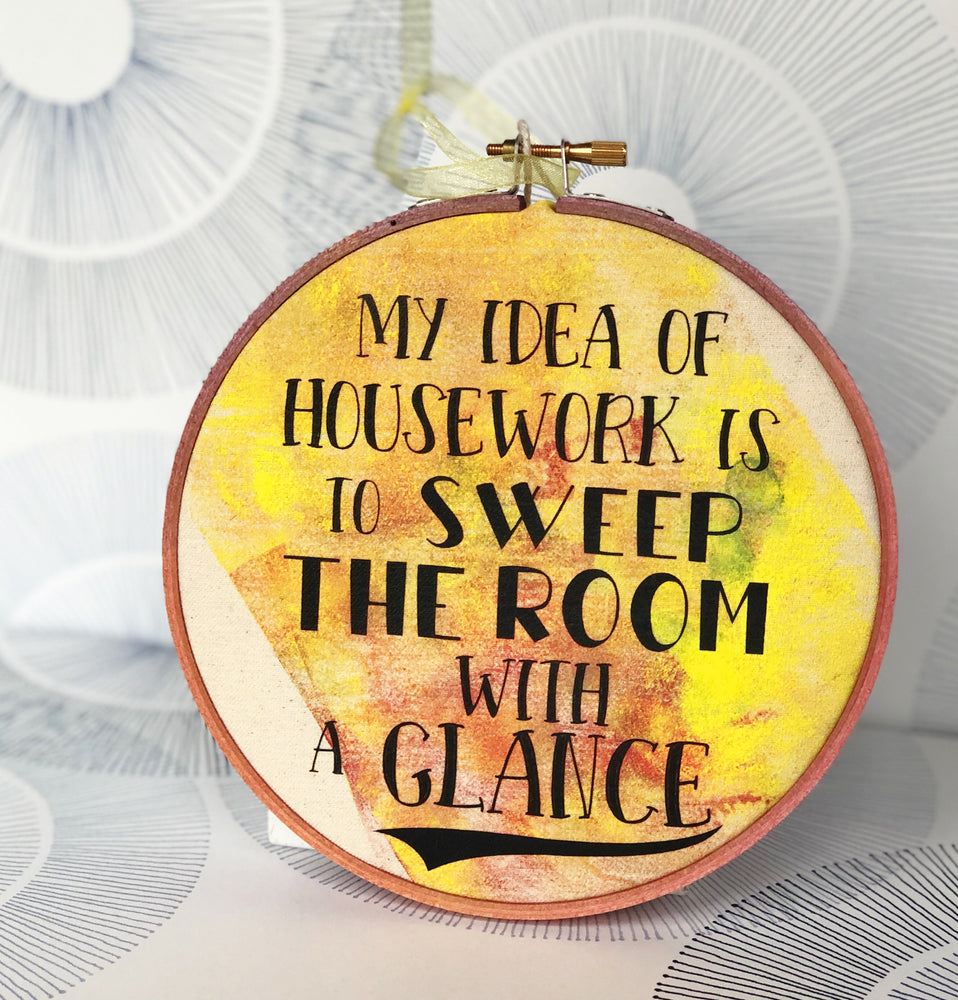 sweep the room with a glance - hoop art