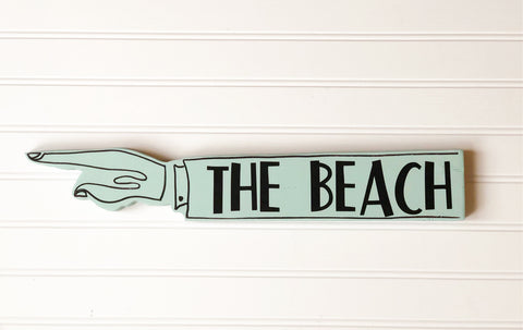 summer fun wooden pointy sign