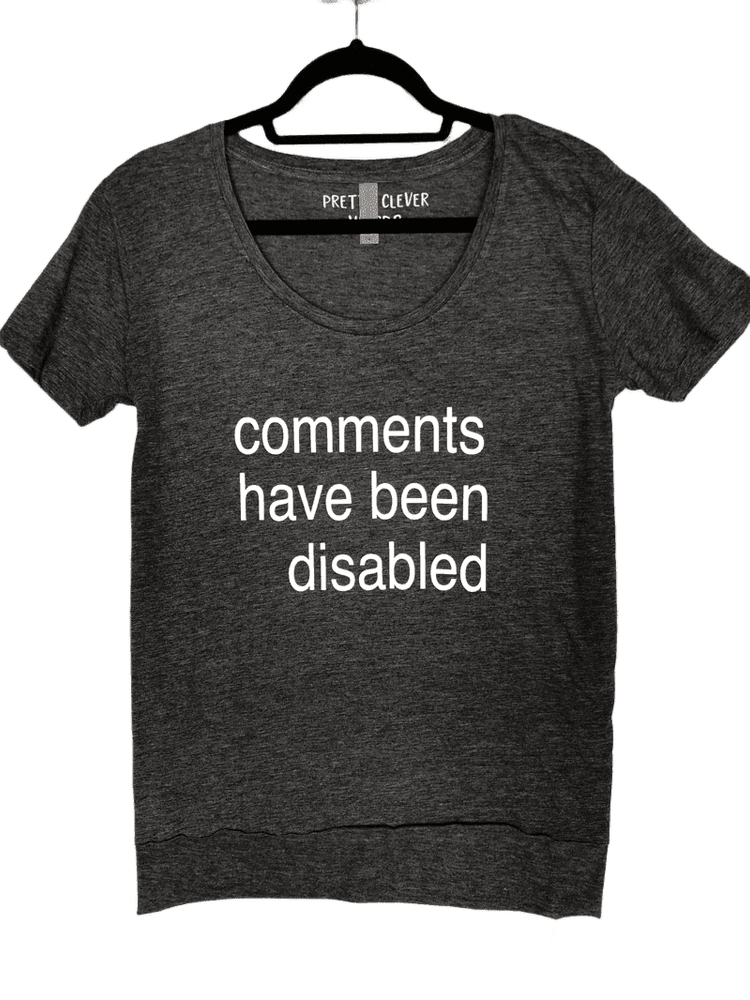 comments have been disabled - shirt sample