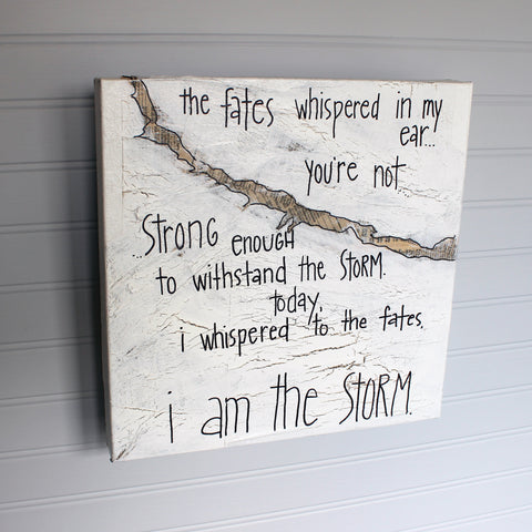 i am the storm canvas word art
