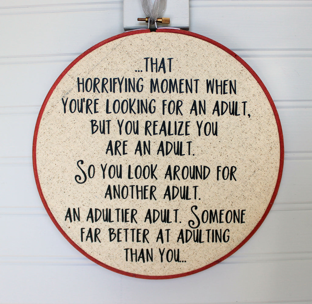 adultier adult hoop art