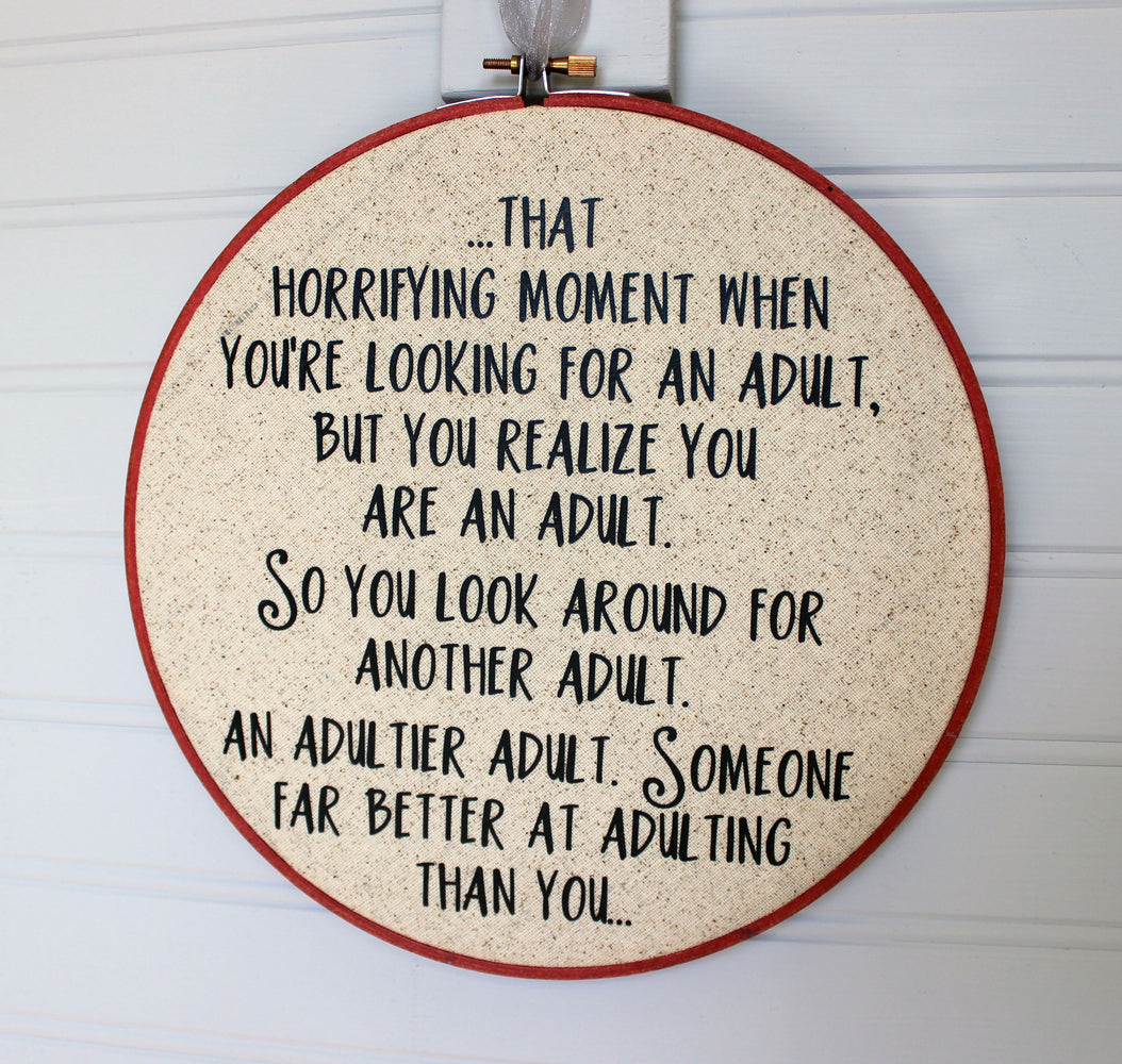 a custom hoop art piece - Pretty Clever Words