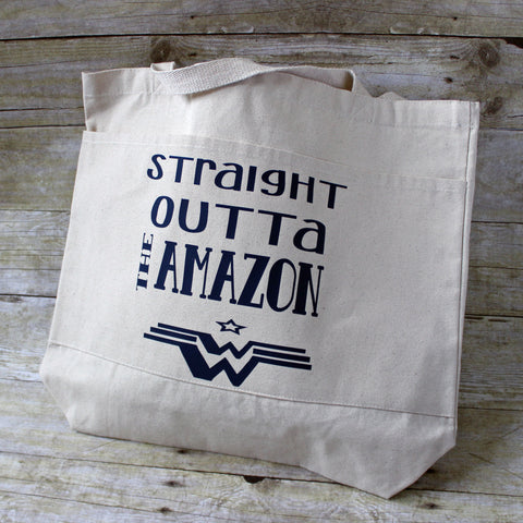 straight outta the amazon - tote bag