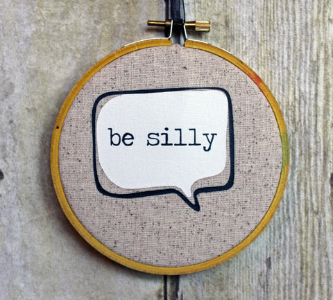 Holiday Word and Thought Bubble ornaments - hoop art - Pretty Clever Words