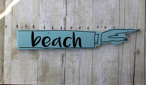 beach wooden pointy sign - Pretty Clever Words