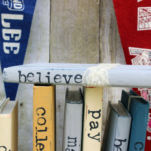Lace Believe Book Art - Pretty Clever Words
