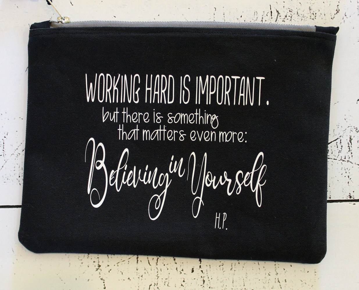 believing in yourself - zip bag