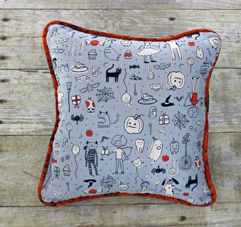 boooo two pennant Halloween pillow