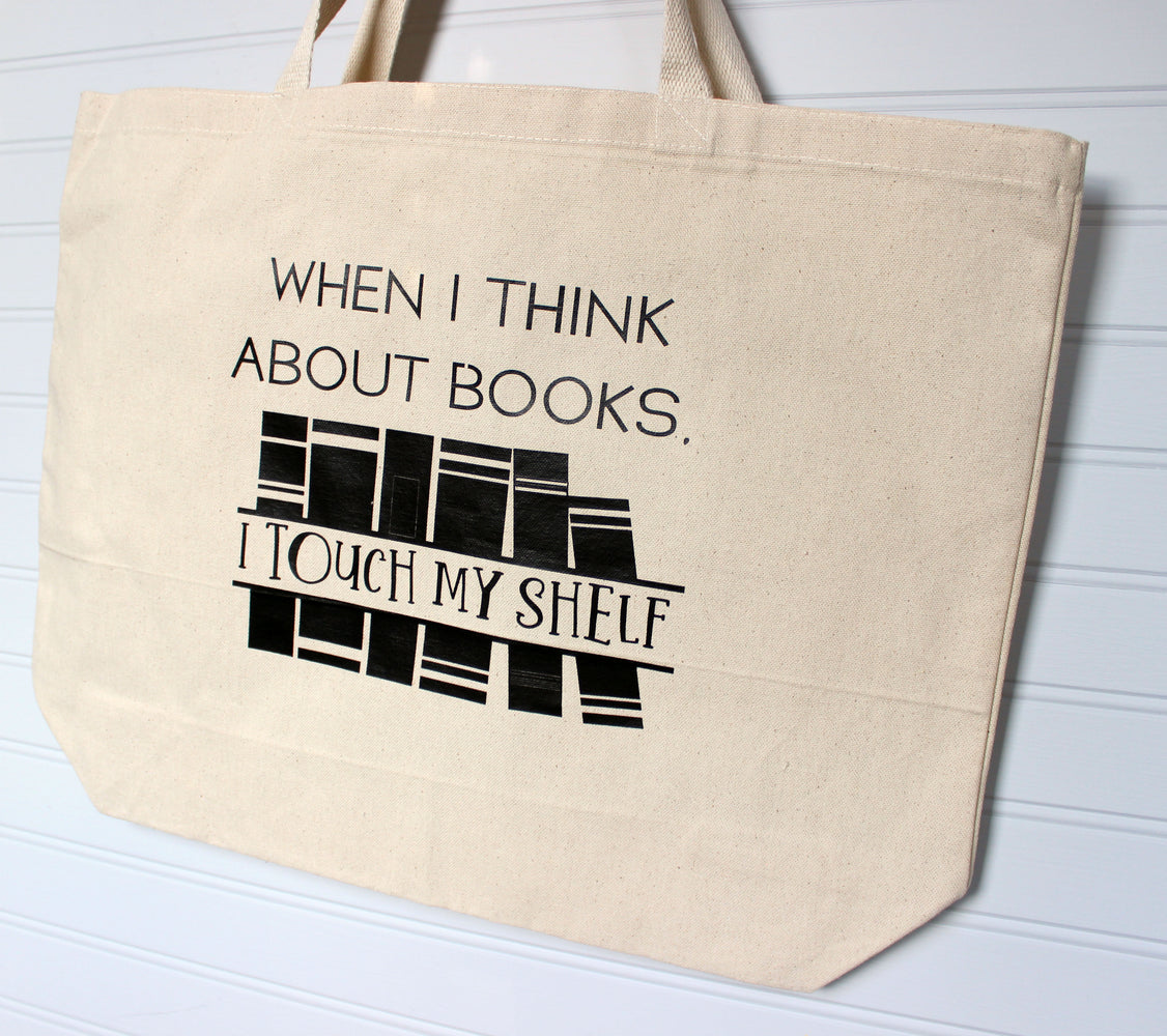 touch my bookshelf - tote bag