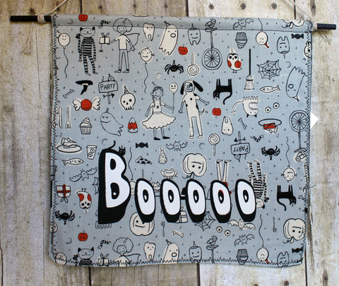boooo - Halloween canvas banner - Pretty Clever Words