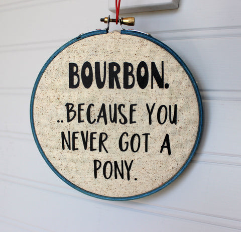 because you never got a pony.. hoop art