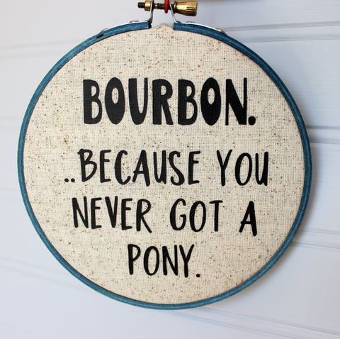 ...because you never got a pony hoop art