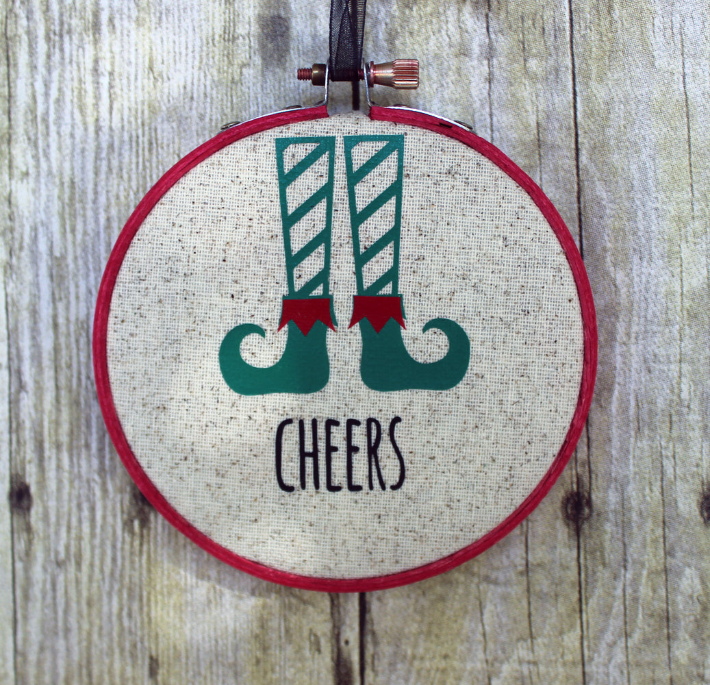 Holiday Ornaments Chill - hoop art - Pretty Clever Words