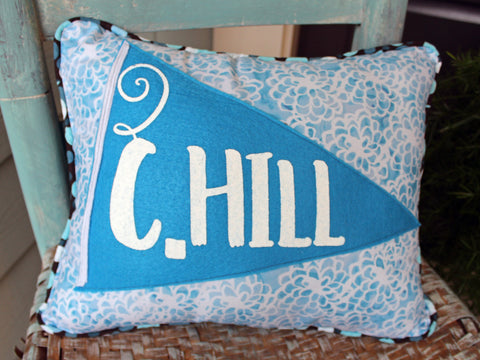 vintage style pennant pillow - C.Hill