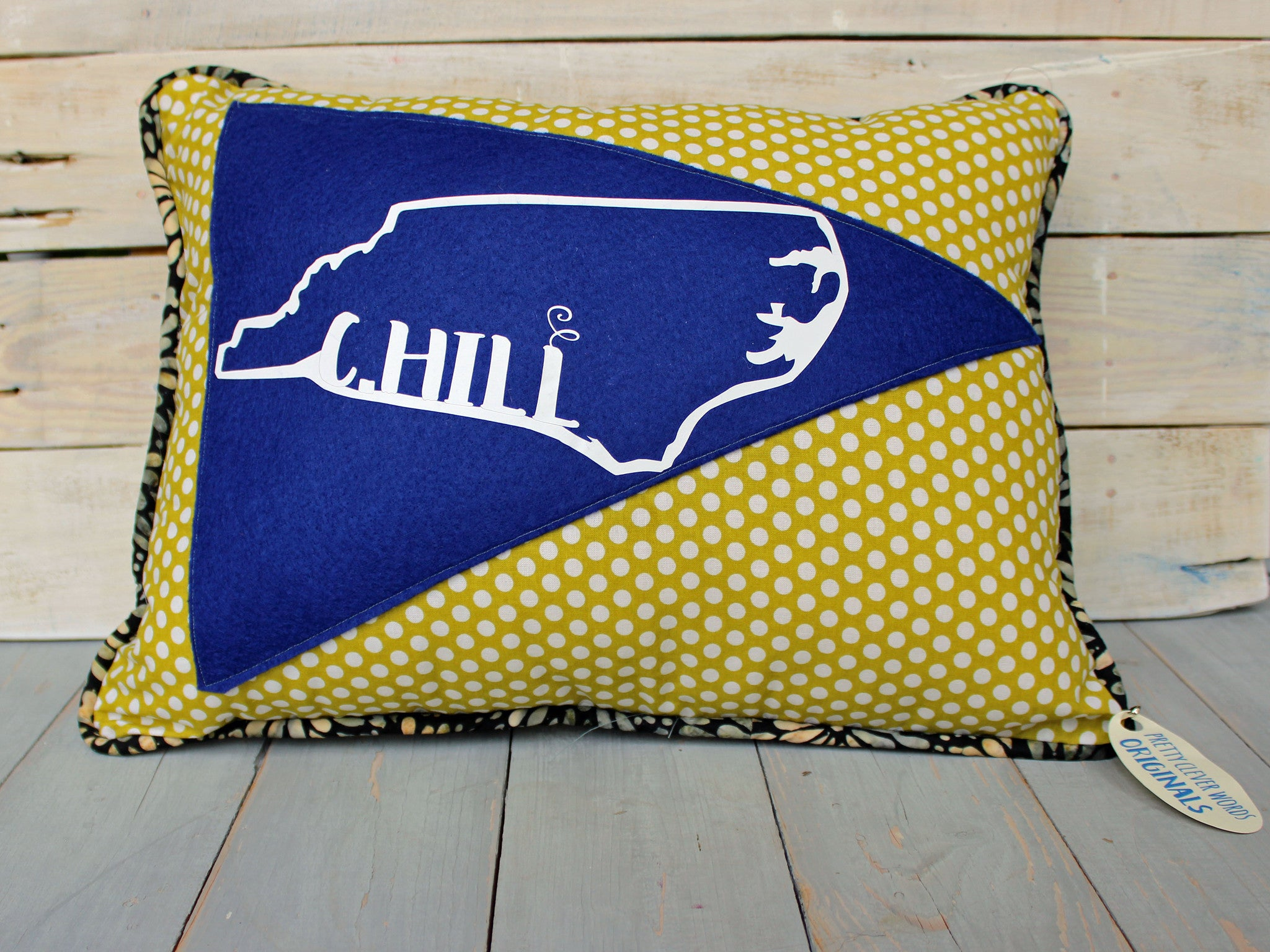 vintage style pennant pillow - chill state