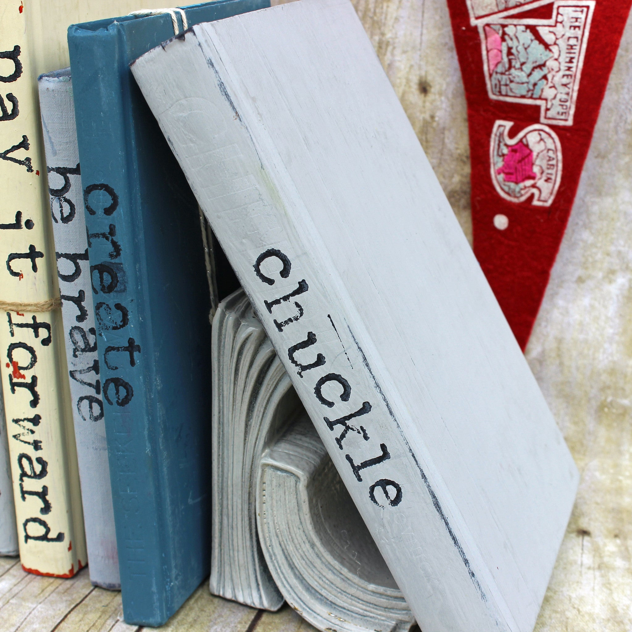 chuckle altered book art
