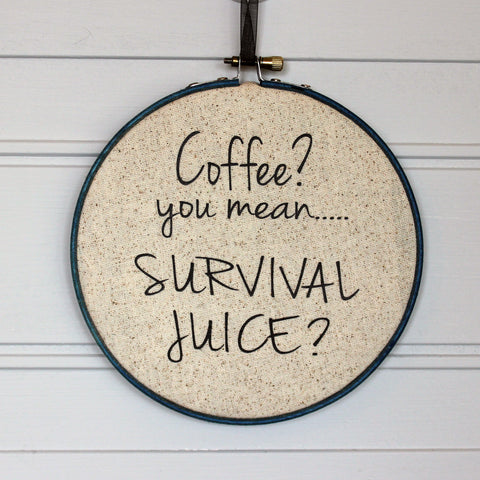 coffee is survival juice hoop art