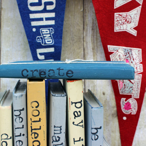 create repurposed book art