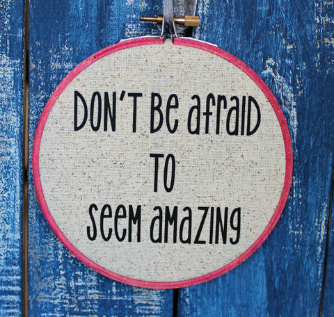 the Doctor's advice on being amazing - hoop art