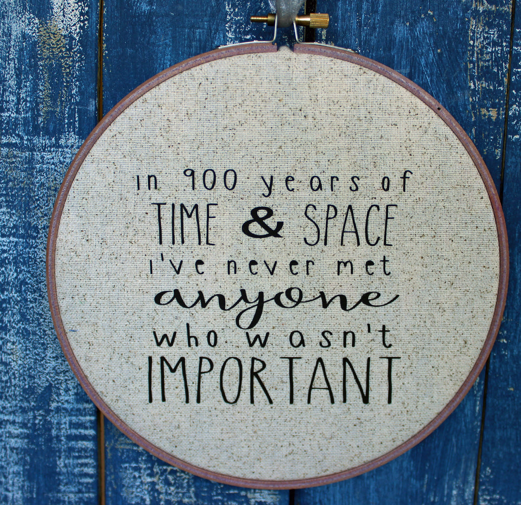 the Doctor's advice on time and space - hoop art