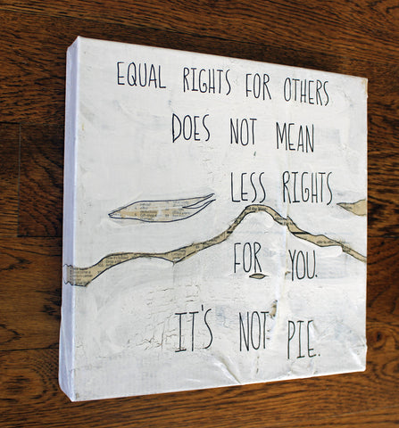 equal rights canvas word art