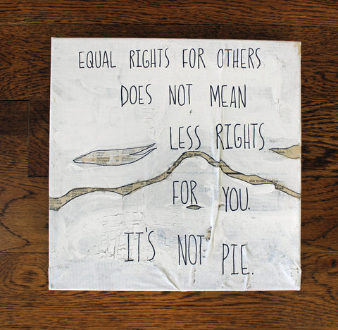 equal rights canvas word art - Pretty Clever Words