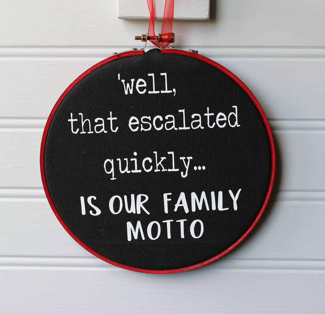 family motto hoop art