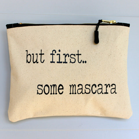 but first, some mascara - zip bag - Pretty Clever Words