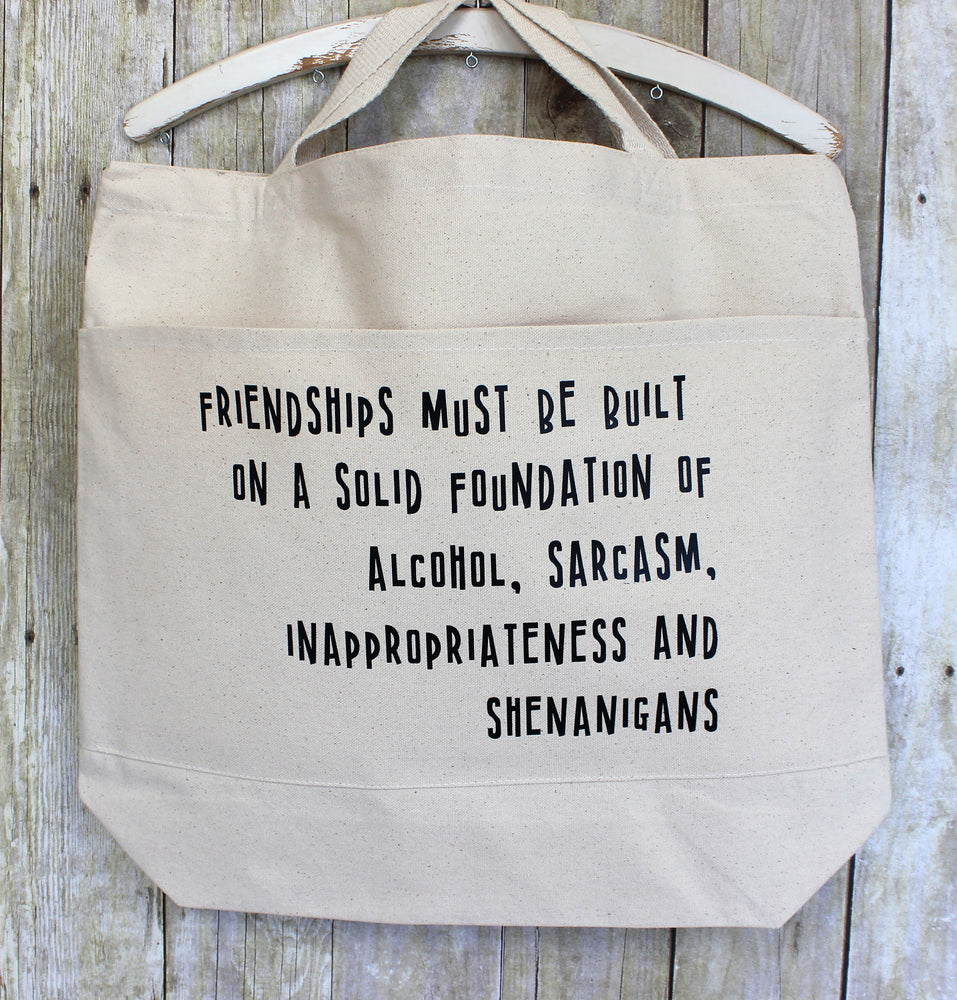 friendships and shenanigans - tote bag