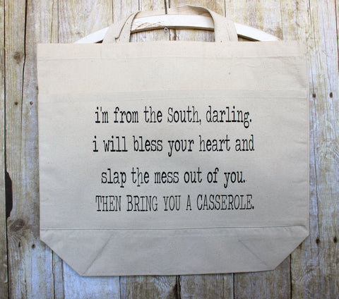 from the south darling - tote bag