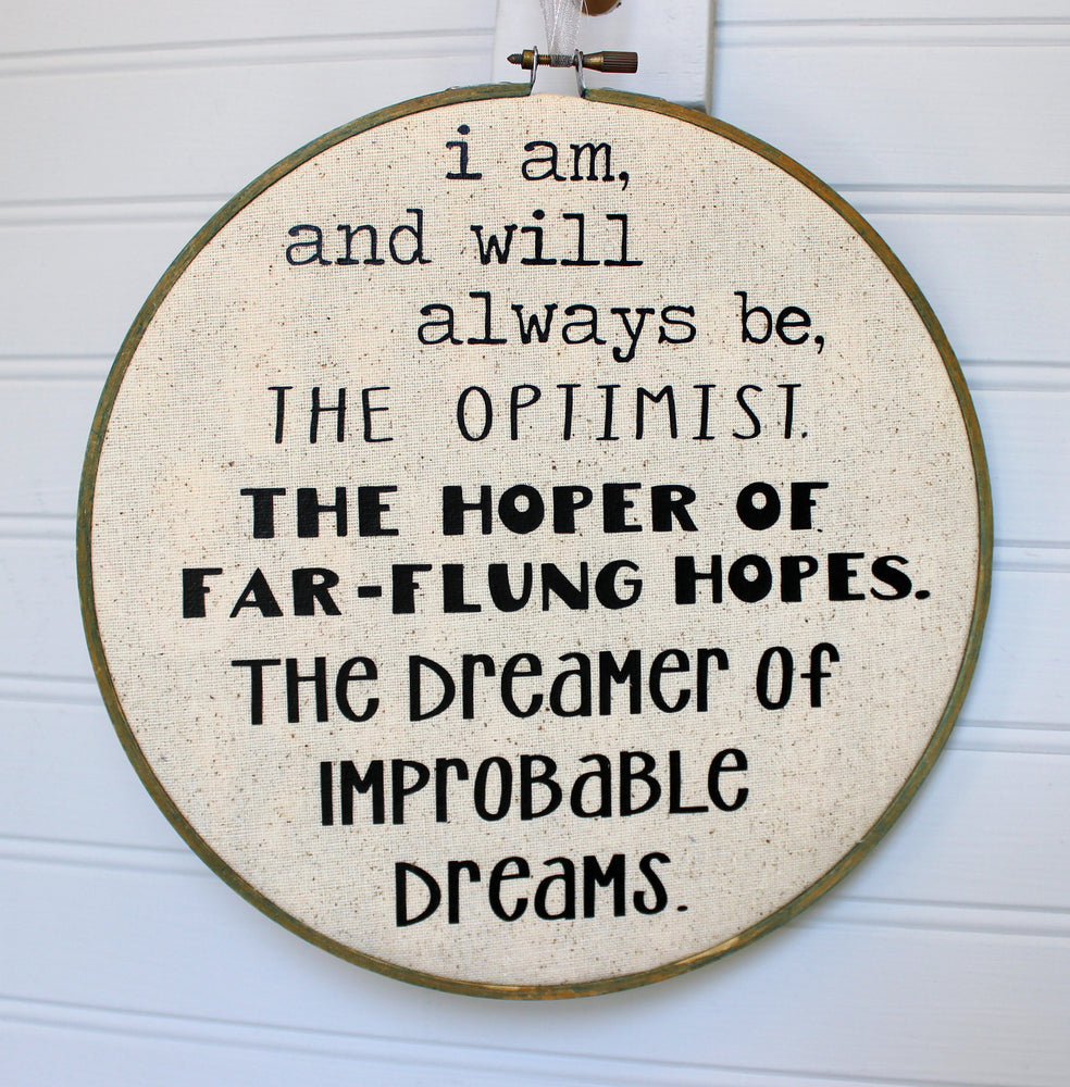 the Doctor's advice on hope hoop art