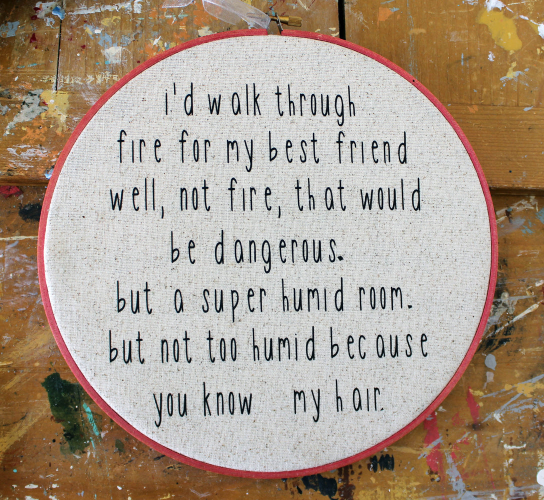 humid hair hoop art - Pretty Clever Words