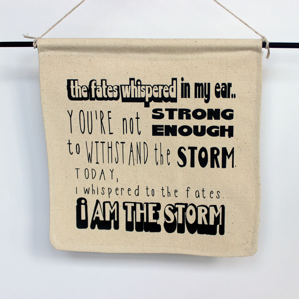 i am the storm - canvas banner