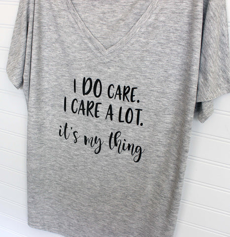 i do care - tank and shirt