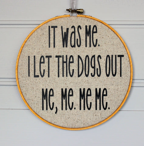 who let the dogs out hoop art - Pretty Clever Words