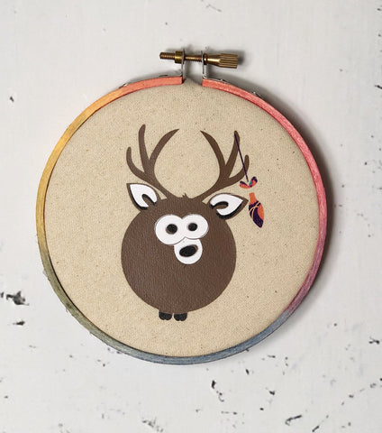Holiday Animal Ornaments - hoop art