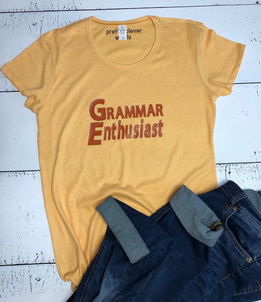 grammar enthusiast  women's shirt sample